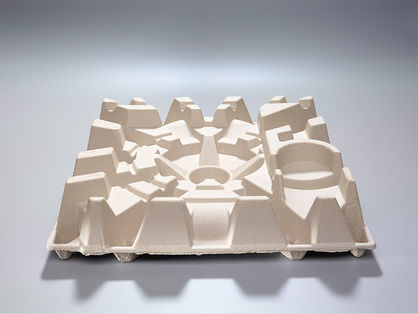 Development and production of moulded fibre parts made from recycled material
