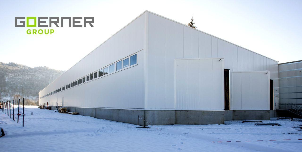 Neue Goerner-Halle für die Lebensmittelverpackung.