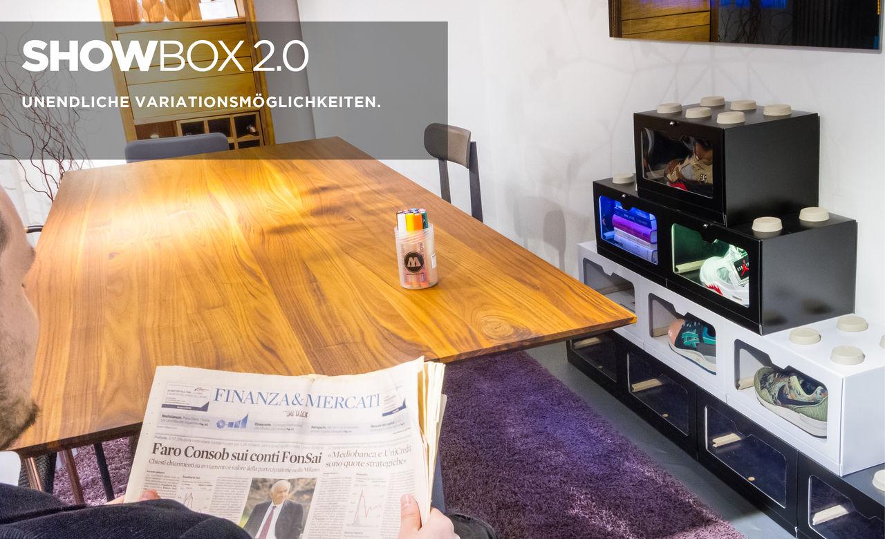 SHOWBOX 2.0 Nachhaltige modulare Aufbewahrung.